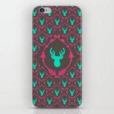 Oh Deer (teal dark) iPhone & iPod Skin