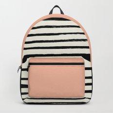 Peach x Stripes Backpacks