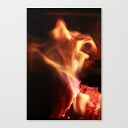 Dancing Flame Canvas Print