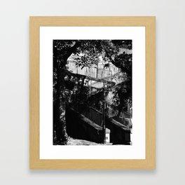 05 Black & White Staircase Framed Art Print