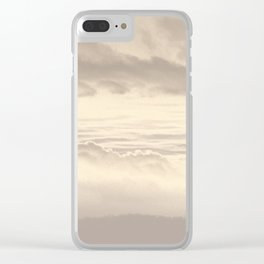 Abstract Pink Clouds Clear iPhone Case