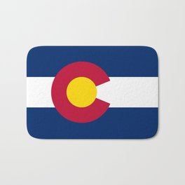 Colorado State Flag Bath Mat