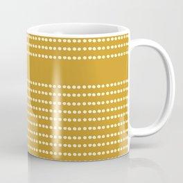 Spotted, Mudcloth, Mustard Yellow, Wall Art Boho Coffee Mug