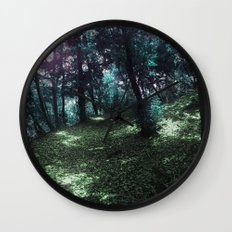 hometown forest Wall Clock