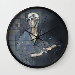Checkered - by Fanitsa Petrou Wall Clock