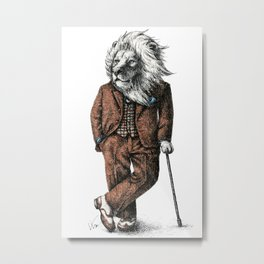 Portrait of Mr Lion Metal Print