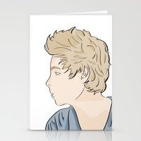 luke hemmings Stationery Cards featuring Luke - watercolor by Feds
