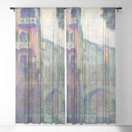 "Claude Monet ""Le Rio de la Salute"" Sheer Curtain"