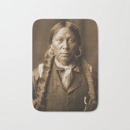 Native American Apache Portrait by Edward Curtis, 1904 Bath Mat
