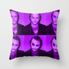 Heath Joker Throw Pillow
