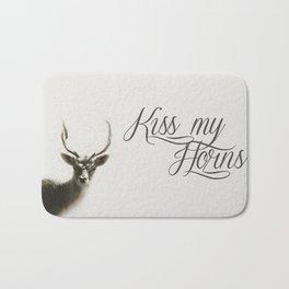 Oh Deer, kiss my horns. Bath Mat