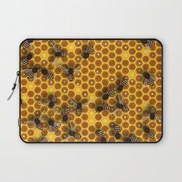 Honeycomb bee background illustration seamless pattern Laptop Sleeve