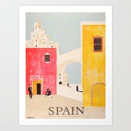 Spain Vintage Travel Poster Mid Century Minimalist Art Art Print