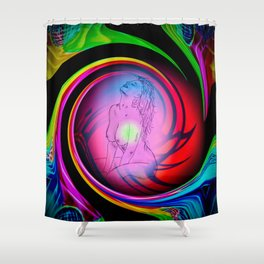 Abstract perfection - Akt Shower Curtain