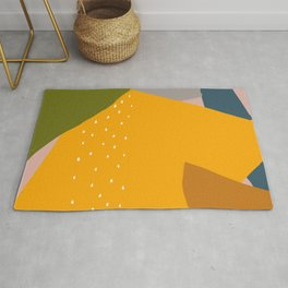 dynamic abstract colorful shapes Rug