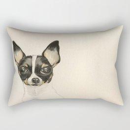 Chihuahua - the tiny dog Rectangular Pillow