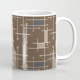 Intersecting Lines in Brown, Tan and Gray Coffee Mug