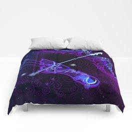 Zodiac neon signs — Sagittarius Comforters