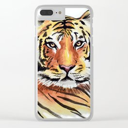 Tiger Love Clear iPhone Case