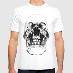 Crystal Skull White Mens Fitted Tee MEDIUM
