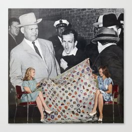 Government Cover Up - Vintage Collage Canvas Print