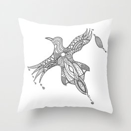 Nothing is just black or white Throw Pillow
