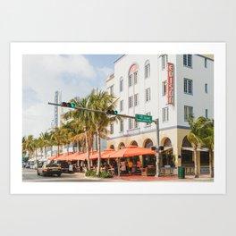 Ocean Drive Miami Art Print
