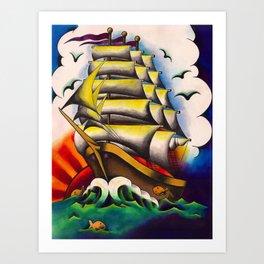 On the Open Sea Art Print