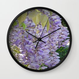 Wisteria Racemes Wall Clock
