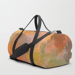 Modern contemporary Yellow Orange Abstract Duffle Bag