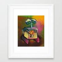 wall e Framed Art Prints featuring WALL-E by tidlin