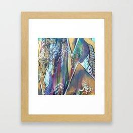 Gold Mountain Rose Framed Art Print
