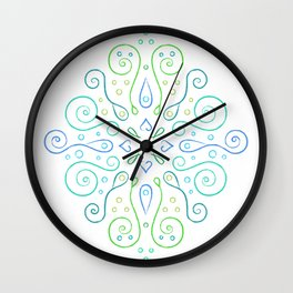 The Joy of Spring Mandala Wall Clock