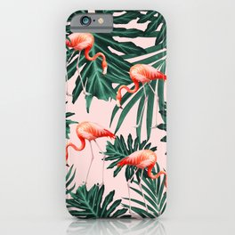 Summer Flamingo Jungle Vibes #1 #tropical #decor #art #society6 iPhone Case
