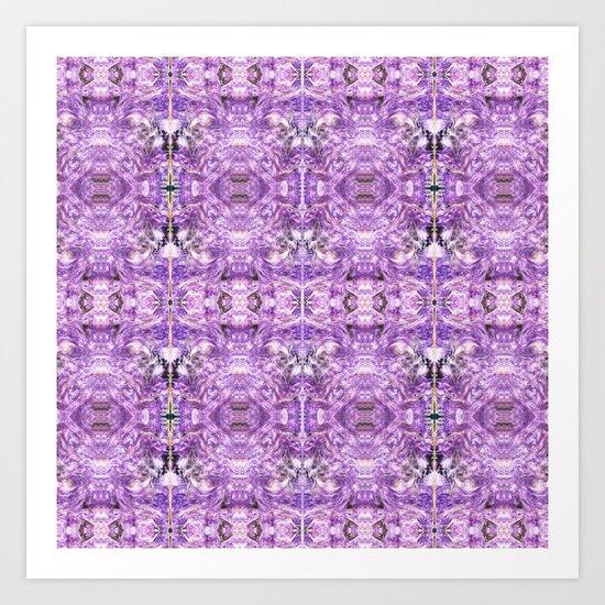 lilac stone flower Art Print