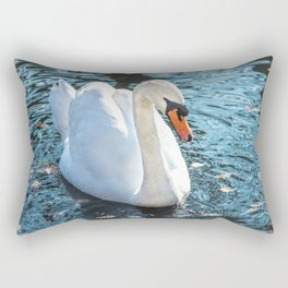The white swan Rectangular Pillow
