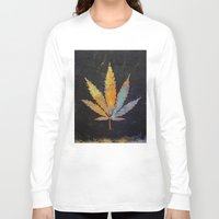 cannabis Long Sleeve T-shirts featuring Cannabis by Michael Creese