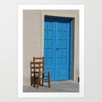 Greek Blue Art Print