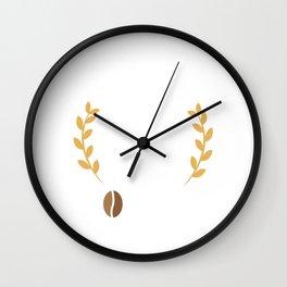 Cute Good Coffee Good Morning Caffeine Addicts Wall Clock