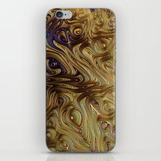 Gold And Blue Satin iPhone & iPod Skin
