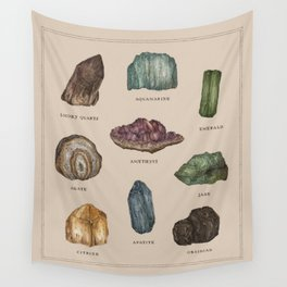 Gems and Minerals Wall Tapestry
