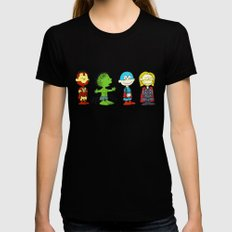 Little Avengers Black X-LARGE Womens Fitted Tee