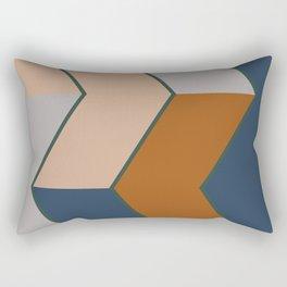 Modern Fall Winter Color Pattern Rectangular Pillow