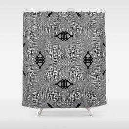 Organic Optical Pattern No.1 Shower Curtain