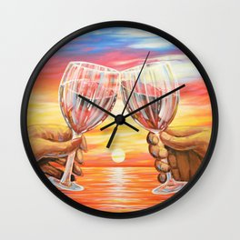 Our Sunset Wall Clock