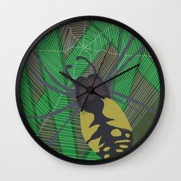 Wasp Spider Wall Clock