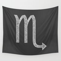 scorpio Wall Tapestries featuring Scorpio by David Zydd