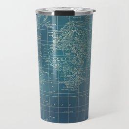 Grunge World Map Travel Mug