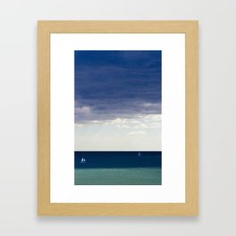 Sailing in the blue Framed Art Print