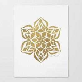 Gold Snowflake Canvas Print